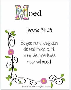 Scripture Quotes, Bible Art, Bible Scriptures, Afrikaanse Quotes, Sweet Love Quotes, Bible Prayers, Spiritual Inspiration, Christianity, Religion