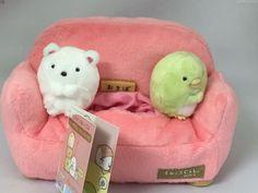 San-X Sumikko Gurashi Multi Stand Plush Sofa Small Shirokuma Penguin Doll Kawaii