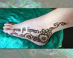 Elvish writing... Crimson Art Henna