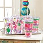 Bright fun tumblers #LillyHoliday