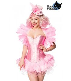 Flamingo Girl pink - AT80156 - FashionMoon Steampunk Mode, Pin Up Mode, Burlesque Outfit, Rockabilly Mode, Gothic Mode, Party Mode, Petticoats, Pink Girl, Harajuku