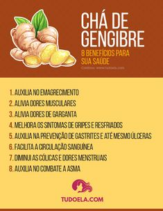 Benefícios e propriedades do chá de gengibre #saúde #bemestar #medicamentos #remédios #remédioscaseiros #tudoela Home Remedies, Natural Remedies, Dieta Flexible, Healthy Breakfast Recipes, Healthy Recipes, Calories, Atkins, Natural Health, Detox