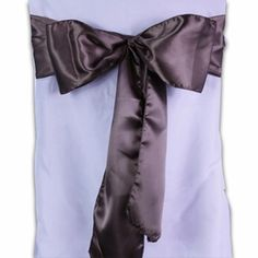 Chocolate Brown Satin Chair Sashes (Pack of 10) $9.99