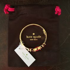 NWT Kate Spade Hancock Park Bracelet - Pink/Red NWT!  Kate Spade Hancock Park bangle bracelet. Color is red/pink and gold. Comes with Kate Spade dust bag. kate spade Jewelry Bracelets