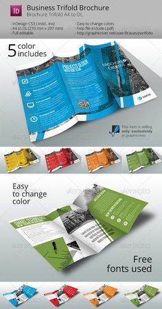 Business Brochure Trifold by Braxas Business Brochure Trifold Template is a Sharp and Professional template for creative business, created in Adobe InDesign. Use it t