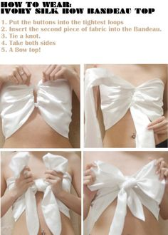 DIY bow bandeau top
