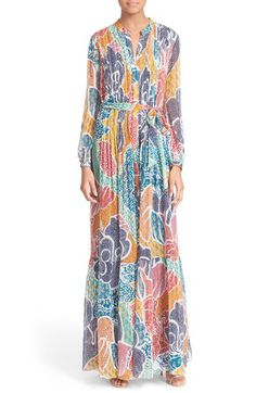 DIANE VON FURSTENBERG 'Cambrie' Print Silk Maxi Dress. #dianevonfurstenberg #cloth #