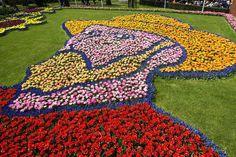 キューケンホフ公園 ゴッホの自画像