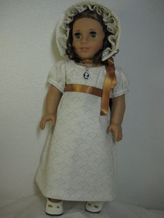 1800s Ivory dress and bonnet by nayasdesigns, $55.00