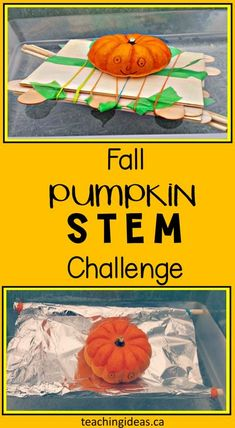 Challenge children with this fall STEM activity. Children learn about problem solving, buoyancy, and much more with this experiment they'll love! #fallscience #STEM #scienceexperimentskids