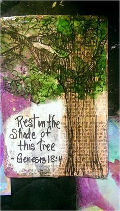 Mixed Media painting with Scripture, abandoned (left anonymously in a public place) in NC to share the message of God's love.