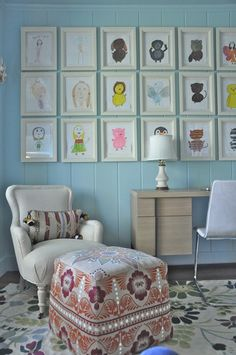 How to Display Kid Art ... some awesome ideas:)