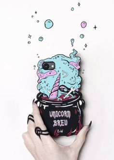Unicorn Brew Phone Case – The Rogue + The Wolf Cute Phone Cases, Iphone Phone Cases, Samsung Cases, Phone Covers, Accessoires Iphone, Ios Phone, Silicone Phone Case, Cool Technology, Coque Iphone