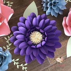 **PLEASE READ** This is for a digital template in PDF, SVG, & DXF formats for template style 12, which can make the flower/s shown in the photos. Includes: 15 petal sizes & circle base. Uses 8.5 x 11 cardstock. Sizes vary depending on base and amount of petals used. Polygon bases not