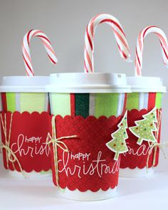 Teacher Christmas Gift Idea and Instructions: Coffee Cup Gift Card Holder