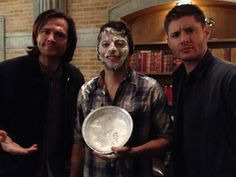 Meanwhile Misha...he thoroughly expected this, haha...