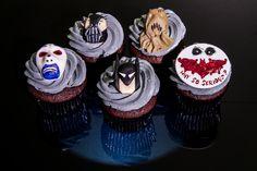 Batman - Dark Knight - Batman - Dark Knight Themed Cupcakes featuring Batman, Bane, Scarecrow, and the Joker