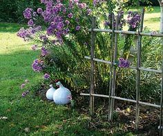 Cloisons trompe-l'oeil au jardin - En bambou, fait maison