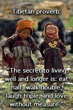 Eat half walk double