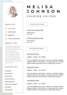 Resume Template Cv Template Resume Cv Design Teacher Resume Curriculum Vitae Cv Instant Download Resume Cv Resume Templates In 2020 Cv Design Cv Resume Template Cv Template