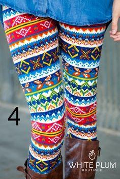 Sweater print leggings