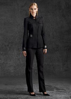 Nouveau Base Cloth Wanda Jacket | Lafayette 148 New York - w/ leather accents - $748