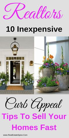 10 Inexpensive Curb Appeal Tips To Attract More Buyers & A High ROI - luxury real estate photography - Real Estate Staging, Real Estate Leads, Selling Real Estate, Real Estate Tips, Luxury Real Estate, Home Selling Tips, Home Buying Tips, Selling Your House, Lead Generation