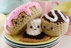 Ravelry: Amigurumi-Sweet Tooth Trio pattern by You Cute