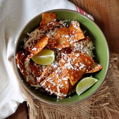 Totopos with Salsa De Arbol and Cotija Cheese