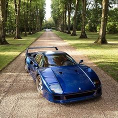 30 years old. I can't imagine a car now that will feel this fast in 30 years time. #mental #f40blu #ferrari #f40