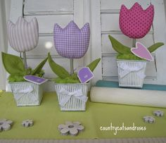 countrycatsandroses: Petites tulipes