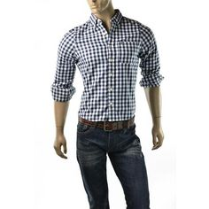 Plaid check button up shirt by Abercrombie & Fitch