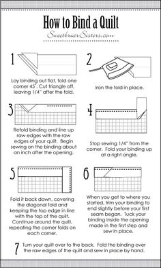 How To Bind A Quilt. Perfect timing.