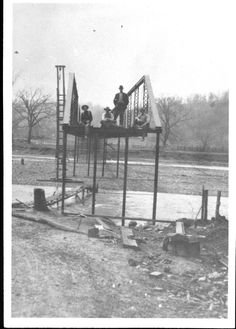 The building of the historic Route 66 bridge crossing the Roubidoux Creek in Waynesville, MO!