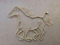 Wire Horse Arvak by WyreWithATwist on Etsy, $30.00