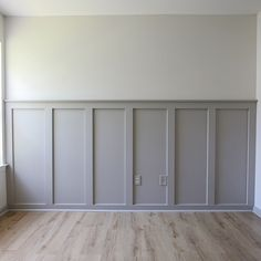 How to easily install a DIY board and batten wall in any room! This budget friendly and simple DIY board and batten accent wall will add instant character to your home! Grey board and batten with white walls and grey trim adds a fun decor twist on traditional board and batten wainscoting! #boardandbatten #diy #homeimprovement #accentwall