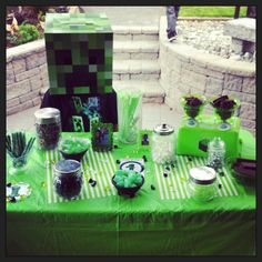 Minecraft candy table