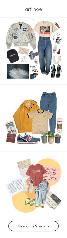 """""""art hoe"""" by litzoromanian ❤ liked on Polyvore featuring Retrò, Levi's, Benetton, Baby-G, Sony, Dr. Martens, Abercrombie & Fitch, Lomography, New Balance and Hostess"""