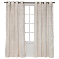 TARGET - Threshold™ Dot Jacquard Curtain Panel - Cream