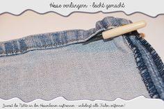 MiKis-Handbarbeiten: Hosenbeine verlängern - so geht das :)