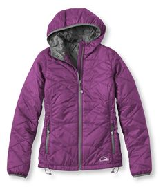 Bold Orchid PrimaLoft Packaway Hooded Jacket