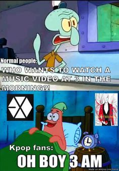 """""""Waiting for comebacks and MVs...now that's devotion!"""" I think the longest i've stayed up for a mv is 5am but for award shows about 7am"""