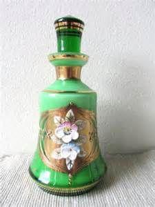 Bohemian Czech Vintage Perfume Bottles