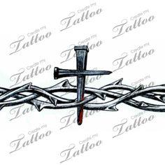 Tribal Cross Armband Tattoos | Crown Of Thorns Armband Crossbleed Createmytattoocom