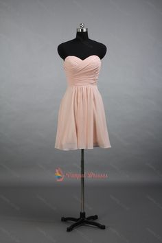 88.00$  Watch here - http://viwby.justgood.pw/vig/item.php?t=hzbq7pv58695 - Short Peach Strapless Pleated Bodice Chiffon Cocktail Dresses