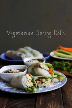 Vegetarian Spring Rolls on bustle.