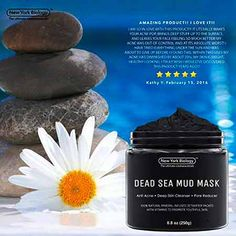 New York Biology Dead Sea Mud Mask for Face and Body - Natural Spa Quality Pore Reducer for Acne, Blackheads and Oily Skin - Tightens Skin for A Healthier Complexion - oz Skin Care Regimen, Skin Care Tips, Skin Tips, Blackhead Mask, Dead Sea Mud, Calendula Oil, Spa, Homemade Face Masks
