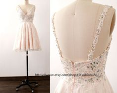 Lace Homecoming Dress Mini Prom Dresses Pearl by HiFashionLACE