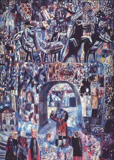 The Narva Gates, 1929, Pavel Filonov Size: 62x88 cm Medium: oil