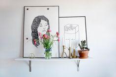 Scandinavian style in a Brooklyn apartment | Alittleleopard.com